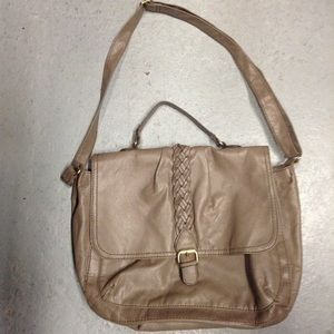 H&M taupe faux leather crossbody bag purse